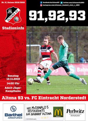 Stadionzeitung 09 Altona 93
